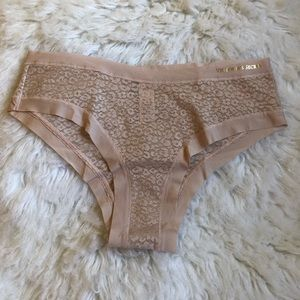 Victoria's Secret lacy nude/blush pink cheeky